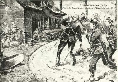Rijkswachtkapitein Camille Fremault sneuvelt bij de Edemolen