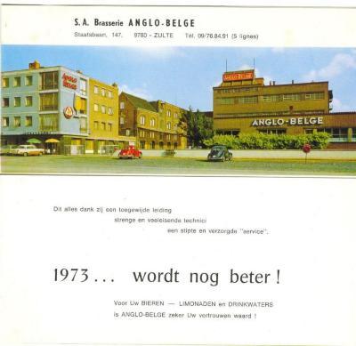 Nieuwsjaarkaart van de Anglo-Belge anno 1973
