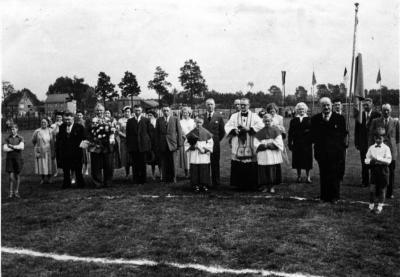 De inhuldiging van het voetbalveld van FC Latem