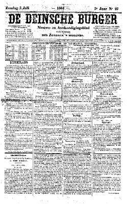 De Deinsche Burger: Zondag 3 juli 1881