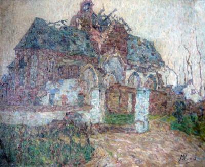 De ruïnes van de Zultse parochiekerk door de ogen van Modest Huys