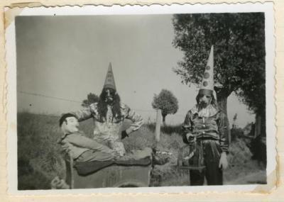 Verkleedpartij reuzenstoet Gavere 1949