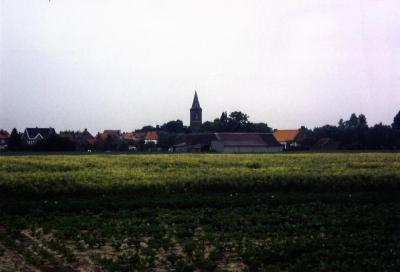 Een zicht op het landelijke Zevergem