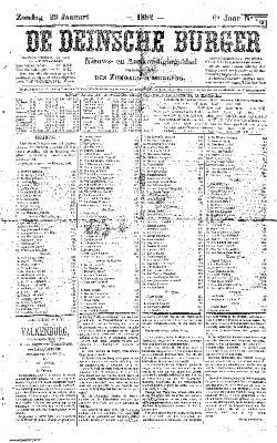 De Deinsche Burger: Zondag 29 januari 1882