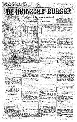 De Deinsche Burger: Zondag 1 januari 1882