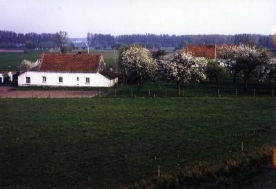 Een zicht op de boerderij van de familie Vermeulen