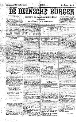 De Deinsche Burger: zondag 26 februari 1882