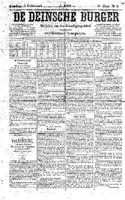 De Deinsche Burger: Zondag 5 februari 1882
