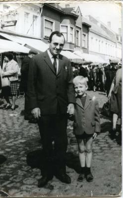 Roger en Filiep Delbaere op de markt