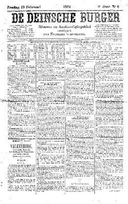 De Deinsche Burger: zondag 19 februari 1882