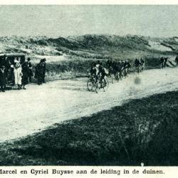 Marcel en Cyriel Buysse in de duinen