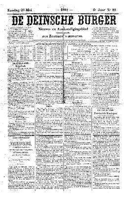 De Deinsche Burger: Zondag 28 mei 1882