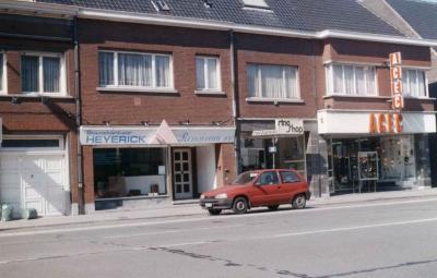 Bouwkantoor Heyerick voordat kapperszaak Filiep zich er vestigde