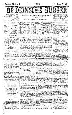 De Deinsche Burger: Zondag 30 april 1882