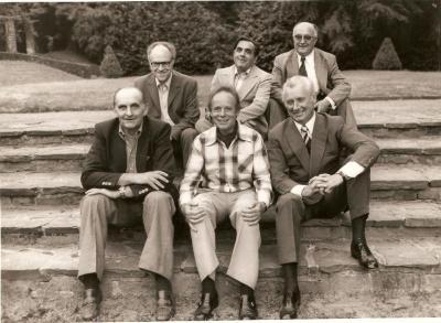 Historische foto uit 1976 met de burgemeesters van de deelgemeenten van Gavere voor de fusie op 1/1/1977