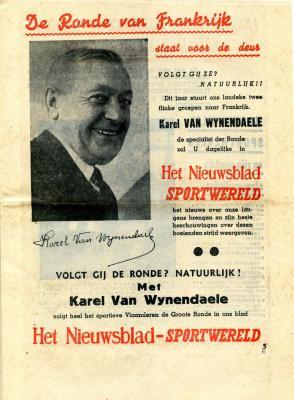 Karel Van Wijnendaele's Sportwereld begint een nieuw hoofdstuk