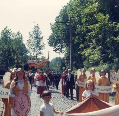 Processie in Deurle 1969