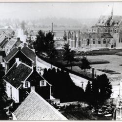 De vernielde Eekse kerk vanuit lucht