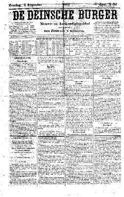De Deinsche Burger: Zondag 6 augustus 1882
