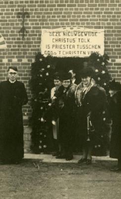Pastoor André T' Jampens op de dag van zijn ere-mis.