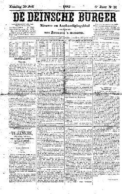 De Deinsche Burger: Zondag 30 juli 1882