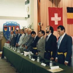 Officiële opening van de verbroederingsfeesten te Eke in 1987