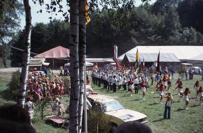afscheidsceremonie in Eicken-Bruche
