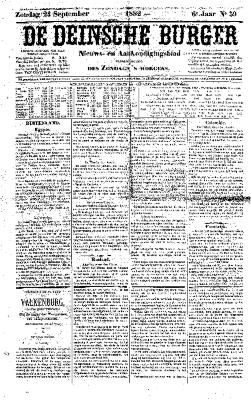 De Deinsche Burger: Zondag 24 september 1882