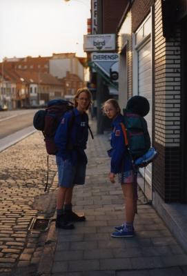 Eva en Bruno Devooght vertrekken op kamp