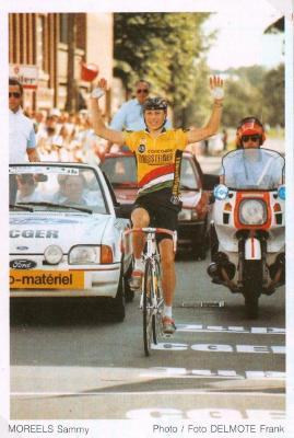 Sammie Moreels op de fiets
