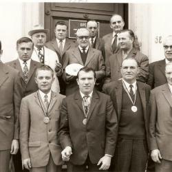 Sint-Sebastiaanschutters Asper, laureaten van de kampioenschappen 1969 en 1973