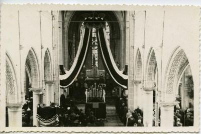 De begrafenisplechtigheid van pastoor Seyssens