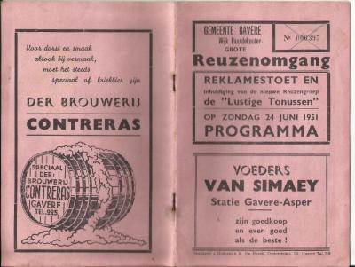 Het programmaboekje van de vierde Gaverse reuzenommegang