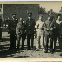 'Overwonnen Duitsers' in de vredesstoet