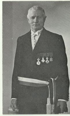 Bidprentje oud-burgemeester Adolf Haerens