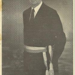 Het bidprentje van burgemeester Ernest Van  De Wiele