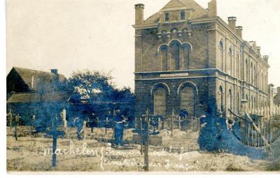 De Franse militaire begraafplaats van Machelen anno 1919
