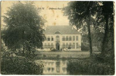 Postkaart van kasteel Te Lake