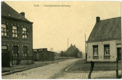 Postkaart met afbeelding Zultse noodkerk