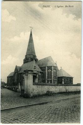 Postkaart van de Zultse kerk voor de verbouwingswerken