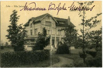 Een postkaart van villa Salomé