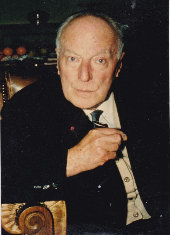 Toneelschrijver Gaston Martens op latere leeftijd