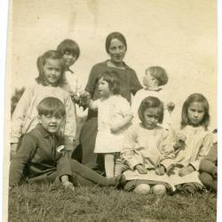 Marie Minne met 7 kinderen
