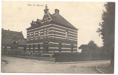 Achterzijde kaart Villa de Gavere 1913