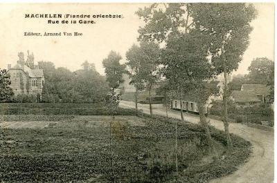 De Machelse Stationsstraat anno 1907