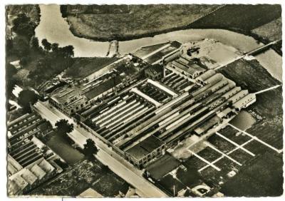 Luchtfoto van 'La Tannerie Moderne de Belge'