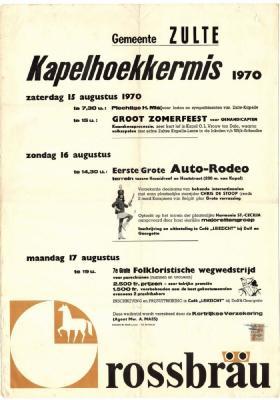 Kermisaffiche Kapelhoek 1970