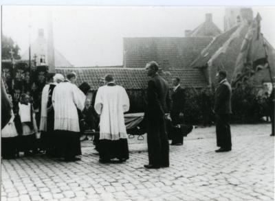 De begrafenis van sergeant Orchard