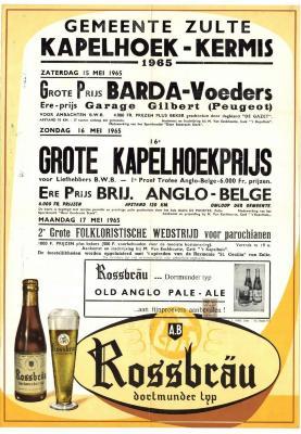 Kermisaffiche Kapelhoek 1965
