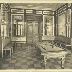 De biljartzaal van home Edouard Anseele